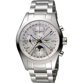 LONGINES 浪琴 Conquest Classic 月相計時機械腕錶/手錶-銀/42mm L27984726