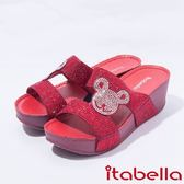 ★2017春夏新品★itabella.亮麗小熊厚底拖鞋(7316-65紅)