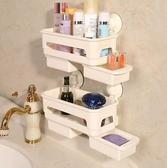 置物架 浴室置物架洗漱用品收納架吸壁式洗手間角架衛生間吸盤壁掛【限時八五鉅惠】