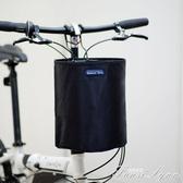 摺疊自行車車筐 加厚帆布車籃單車籃子滑板電動車車簍防水車前筐 范思蓮恩