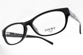 LOEWE 光學眼鏡 VLW815K 700 (黑) 奢華LOGO款 # 金橘眼鏡
