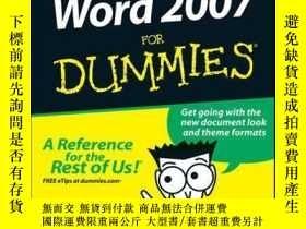 二手書博民逛書店Word罕見2007 For DummiesY410016 Dan Gookin ISBN:97811180