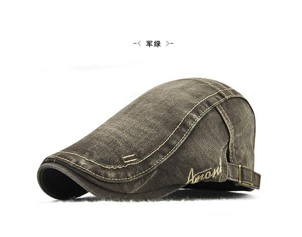 #男帽#鴨舌帽#簡約 刺繡 字母 做舊 休閒 運動 遮陽 貝雷帽 鴨舌帽