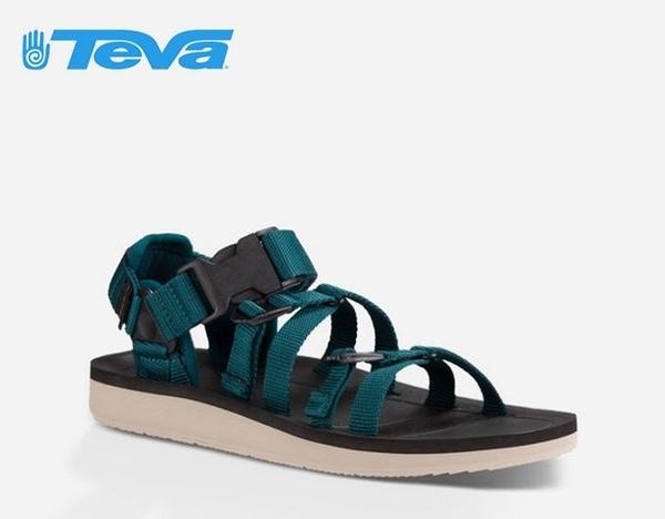 丹大戶外【TEVA】美國 男款 Alp Premier 經典設計織帶涼鞋 1015200 DPTL 深藍綠
