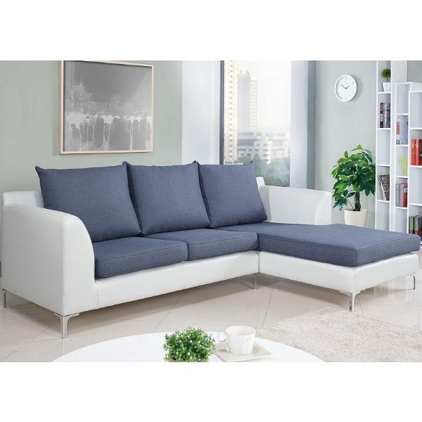 沙發 L型布沙發 SB-661-2 妮可L型雙色沙發-左L【大眾家居舘】