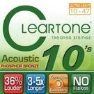 CLeaRTone(0.10-0.47)頂級民謠弦(磷青銅) 【吉他弦專賣店/進口弦/7410】