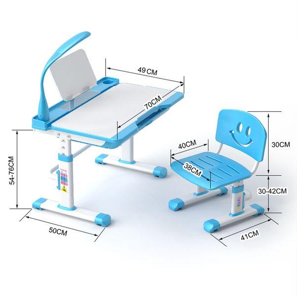 兒童書桌 可升降兒童書桌 小學生寫字桌 小學生書桌 人體工學椅 (不含檯燈)【DK301】