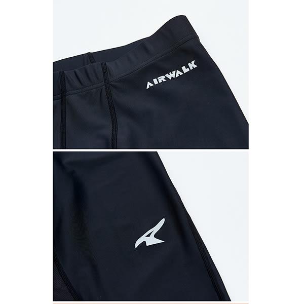 美國AIRWALK 運動緊身長褲-黑