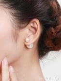 珍珠耳環女耳釘銀大小氣質耳飾網紅雙面前後925純銀2019新款潮大第一印象