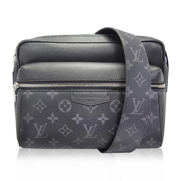 Louis Vuitton (LV) Outdoor牛皮 Eclipse 塗層帆布拉鍊斜背信差包 M30233  國外專櫃購入《小婷子》
