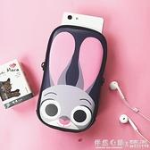 可愛兔子跑步手機臂包男女蘋果7plus/8x運動手臂套健身裝備手腕包 ◣怦然心動◥
