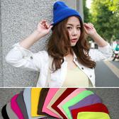 毛帽 彩色 素面 清新 保暖 反摺 毛帽【QI1035】 ENTER
