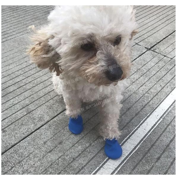 寵物矽膠防水雨鞋 雨鞋套 寵物橡膠鞋套 防滑 狗鞋 狗襪 毛小孩 寵物鞋 外出鞋 寵物襪【4G手機】