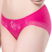 思薇爾-撩波系列M-XL蕾絲低腰三角內褲(洋丹桃)