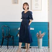 CANTWO復古排釦開襟洋裝-共兩色