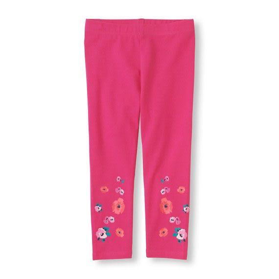 Place長褲   褲管花朵圖案桃紅色Leggings