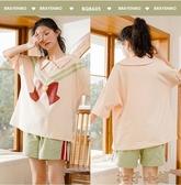 新款睡衣女夏薄款短袖純棉學生兩件套裝公主風夏天 扣子小鋪