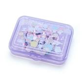 〔小禮堂〕Sanrio大集合 日製造型貼紙組附盒《紫.角色》40枚入.裝飾貼.黏貼用品 4901610-03856
