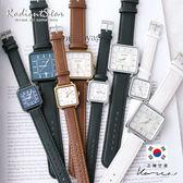 正韓julius簡約質感日期顯示方框造型手錶/對錶/情侶錶【WJA558】璀璨之星☆