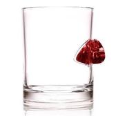 STUCK IN GLASS 吉他 PICK 造型威士忌杯(紅)