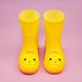 兒童雨鞋男女童卡通雨鞋防水膠鞋防滑雨靴小孩踩水鞋時尚可愛水靴【免運】