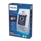 PHILIPS 飛利浦 S-BAG集塵袋 4片裝【歐風家電館】 FC8021 * 2 盒 (規格同伊萊克斯 E201 / E203 )