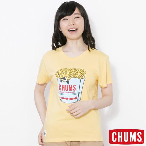 CHUMS 日本 女 Booby薯條短袖圓領T恤 金黃 CH111213Y036