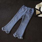 兒童牛仔褲長女童中小童夏季喇叭褲長褲【奇趣小屋】
