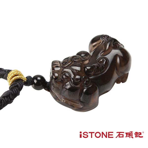 黑曜石貔貅項鍊-財源滾滾-冰種黑曜石 石頭記