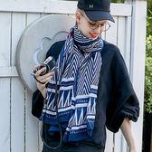 圍巾 幾何 條紋 三角形 棉麻 百搭 披肩 圍巾【Fzr1610】 icoca  10/19