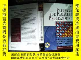 二手書博民逛書店Patterns罕見for Parallel Programmi