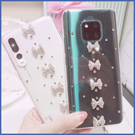 SONY Xperia 5 Xperia10 Plus Xperia1 XA2 Ultra XZ3 XZ2 L3 直條蝴蝶結 手機殼 水鑽殼 訂製