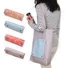折疊加厚帆布單肩購物袋 旅行便攜休閒簡約收納袋 防水環保手提包