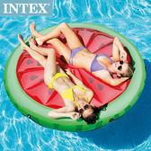 【INTEX】西瓜戲水浮排183*23cm 適用:成人 15130060(56283)