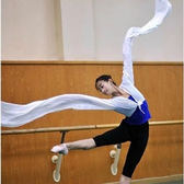 雪紡水袖上衣練習舞蹈戲曲漸變色驚鴻舞古典練功服演出服藏族水袖 伊衫風尚
