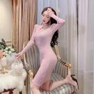 小禮服 2020年夏季新款名媛時尚毛衣裙打底針織裙女人味小香風連衣裙顯瘦