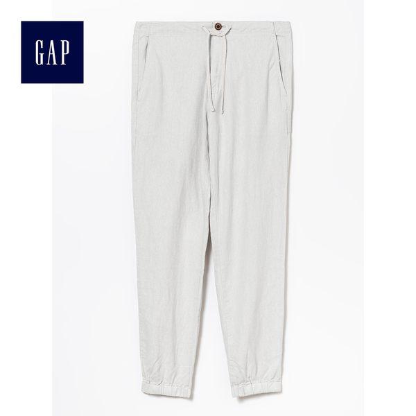 Gap男裝 舒適系帶收腳休閒褲 443030-旅途灰