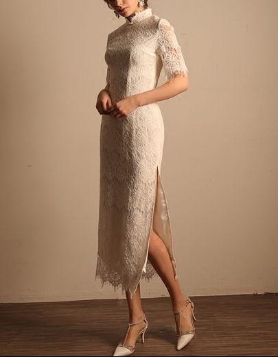 (45 Design)  7天到貨 禮服婚紗晚禮服短款晚宴年會 結婚小禮服短裙 大小顏色款式都能訂製3