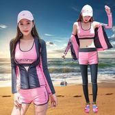 韓國潛水服女分體長袖防曬速干游泳衣沖浪浮潛服顯瘦水母衣套裝