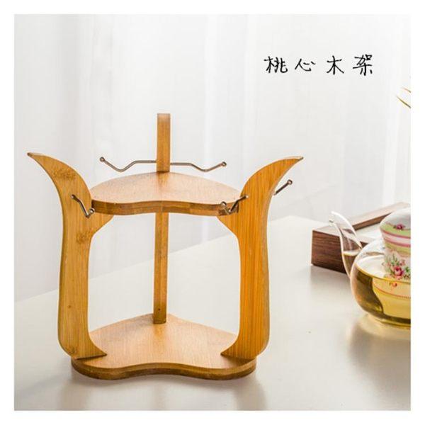 冷水壺杯架 陶瓷杯咖啡杯子套裝杯具創意木架設計掛杯 收納掛杯架