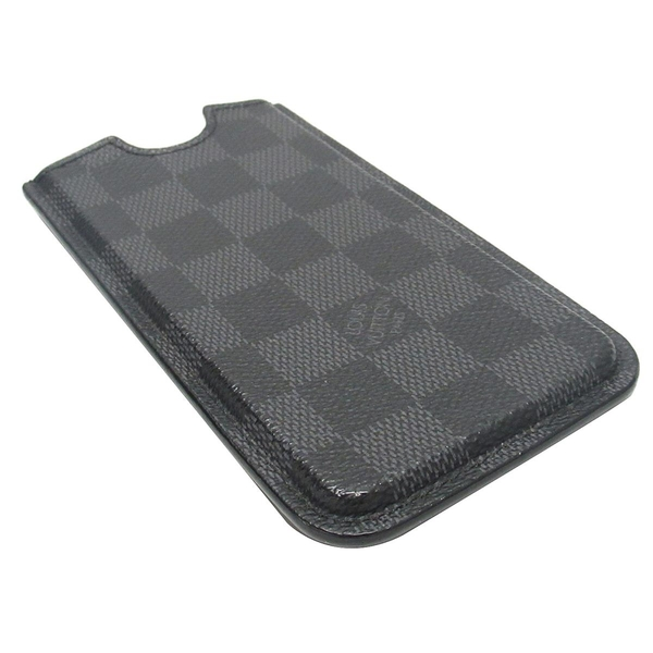 LOUIS VUITTON 路易威登 Damier Graphite黑灰棋盤格手機套 【二手名牌 BRAND OFF】