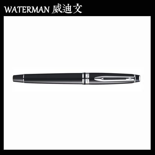 【MY】 WATERMAN EXPERT 權威系列 黑桿白夾 原子筆 W0951800