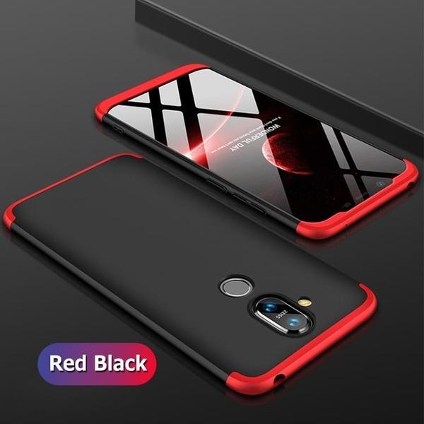 【霧面撞色三段式組合殼】諾基亞8.1 手機殼 硬殼 防摔 防刮 全包邊保護 Nokia 8.1 保護殼