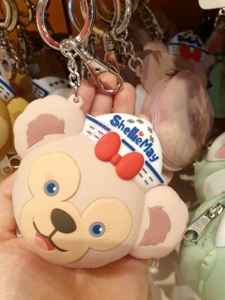 ♥小花花日本精品♥迪士尼樂園限定雪莉玫&史黛拉臉型造型矽膠零錢包小物包96803608