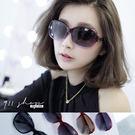 Crystal.MIT台灣製。鎖鏈金屬漸層圓弧方框偏光太陽眼鏡【f594】*911 SHOP*