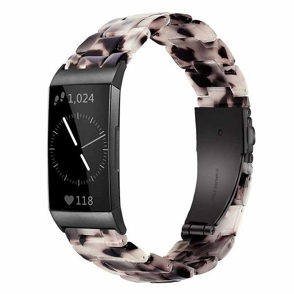 Wongeto 錶帶 Resin Bands 適用Fitbit Charge 3 / 4 / 3 SE 灰/白/粉 [2美國直購]