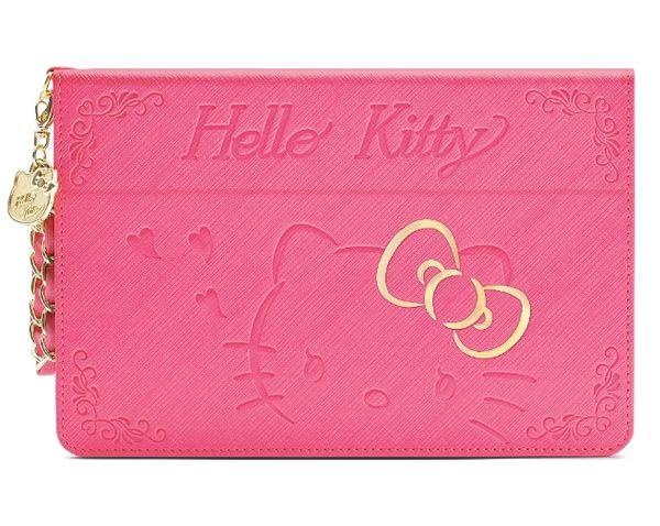 88柑仔店~GARMMA Hello Kitty iPad mini 4摺疊式皮套–金豔粉 金豔桃