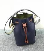 ■專櫃69折■全新真品■Fendi 芬迪 Mon Tresor 小牛皮水桶包 深藍色