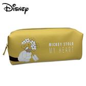 【日本正版】米奇 皮革 筆袋 鉛筆盒 Mickey 迪士尼 Disney - 700983