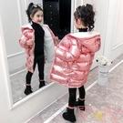 女童棉衣中長款兒童加絨加厚外套中大童棉襖【聚可愛】